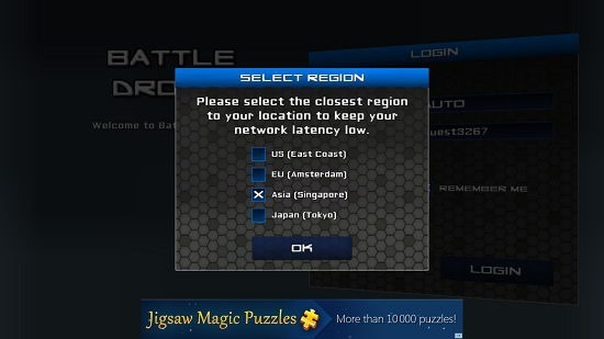 Battle Droids Main Screen