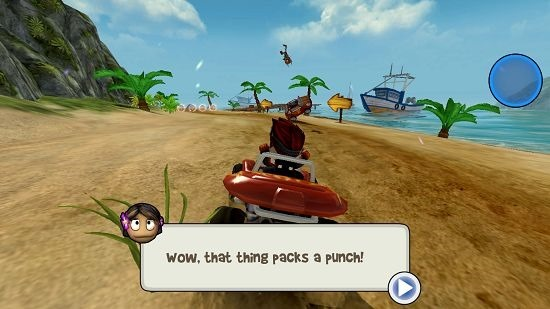 Beach Buggy Racing rocket powerup