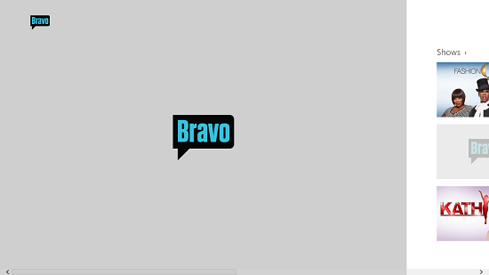 Bravo Now Main screen