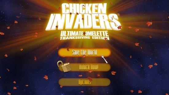 Chicken Invaders 4 Thanksgiving main menu