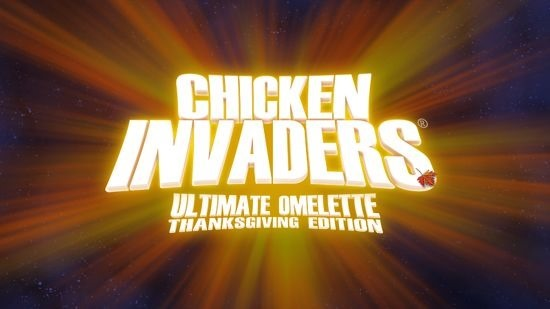 Chicken Invaders 4 Thanksgiving splash screen