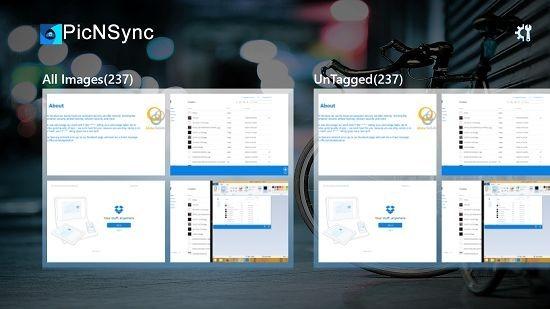 picNsync main screen