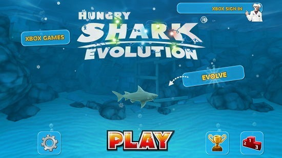 Hungry Shark Evolution main screen