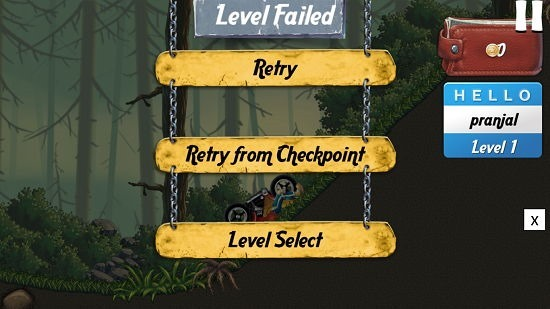 Old School Racer 2 level failed