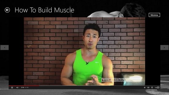WORKOUT MONSTER video interface