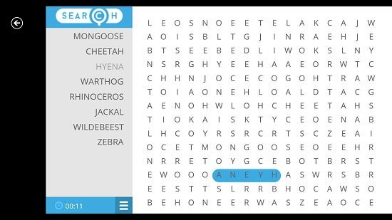 Word Search Saga word found