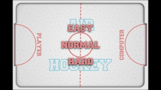 Air Hockey Select Difficulty Level
