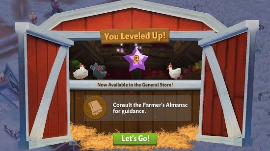 Farmville 2 Country Escape level up