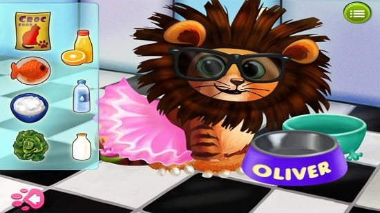 Kitty Cat Pet Dress Up And Play feed the cat