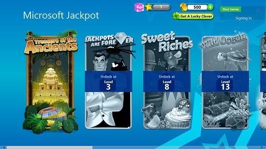 Microsoft Jackpot level select