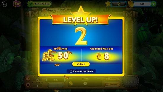 Microsoft Jackpot level up