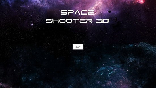 Space Shooter 3D Main Screen