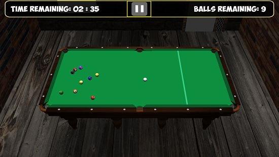 9 Ball Pool Shot Fired