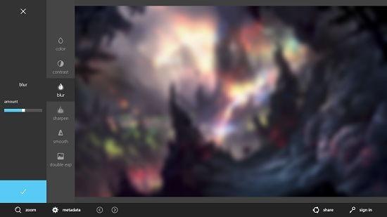 Autodesk Pixlr blur effect