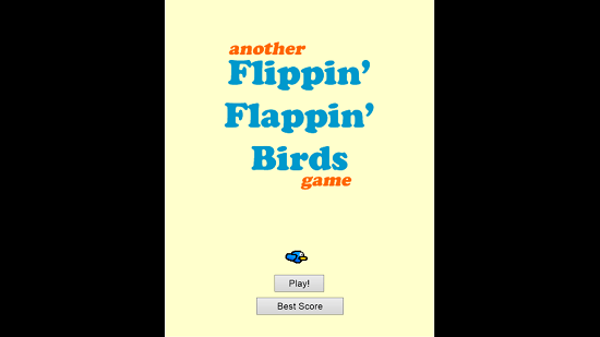 Birdie Flap Main Screen