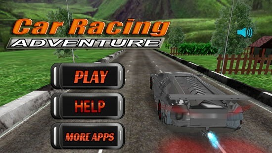 Car Racing Adventure Main Screen