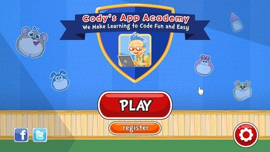Cody's App Academy Main Screen