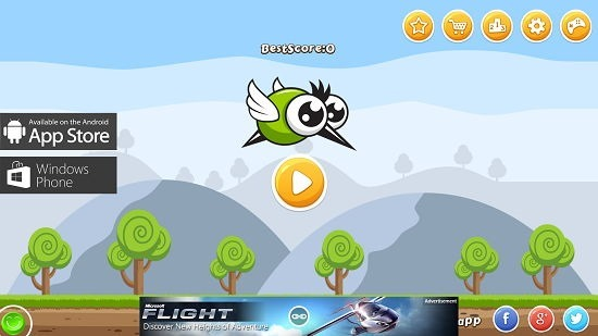 Flap Flap Monster Main Screen