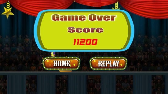 Funny Circus HD Game Over