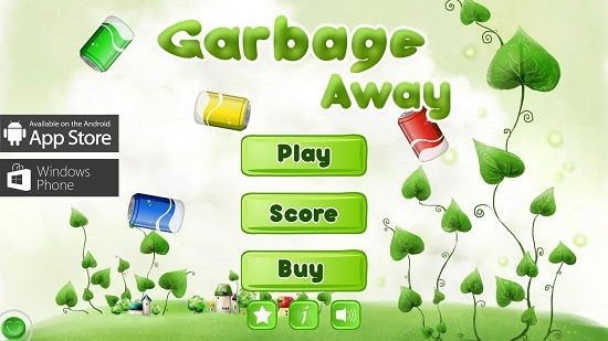 Garbage Away Main Screen