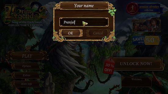 Grim Legends 2 Player Name