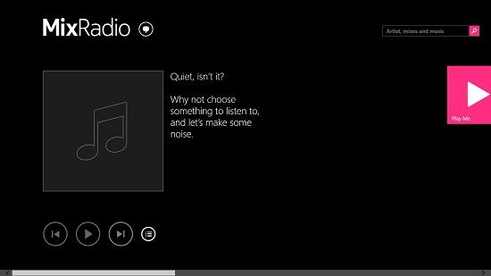 MixRadio Main Interface