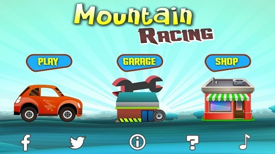 Mountain Racing HD Main Screen