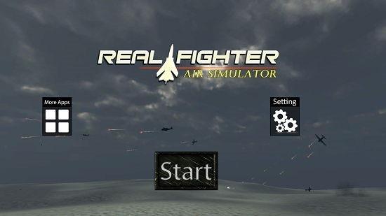 Real Fighter Air Simulator main screen
