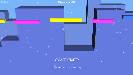 Simple Runner Game Over