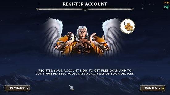 Soulcraft main screen