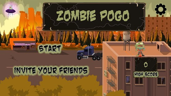 Zombie Pogo Menu