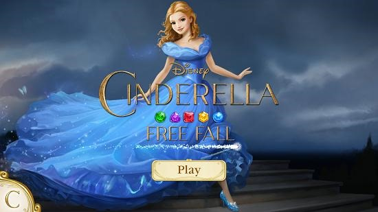 Cinderella Free Fall main screen