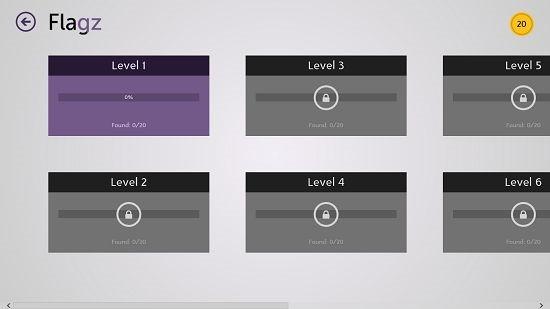 Flagz level selection