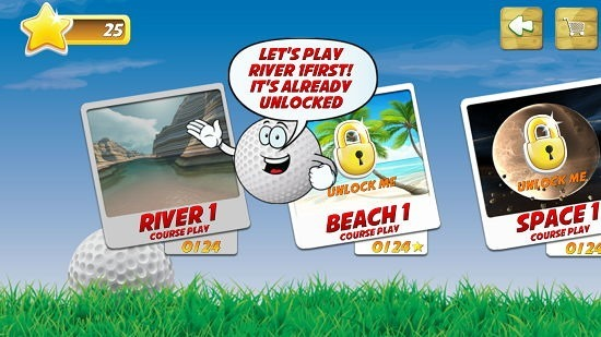 Mini Golf Stars 2 level selection