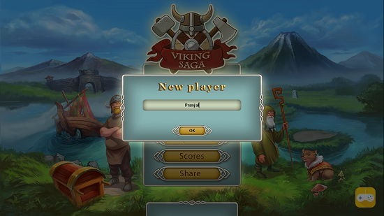 Viking Saga Main Screen