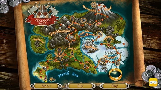 Viking Saga Map