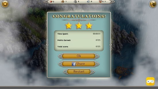 Viking Saga level complete