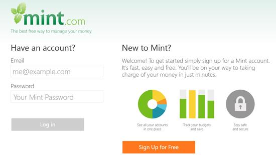 Mint Persona finance app