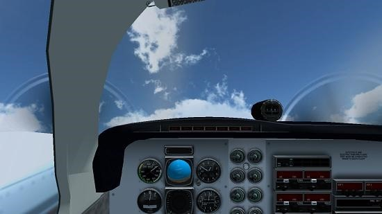3D Flight Simulator changed camera angle