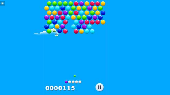 Bubble Shot bubbles bursting