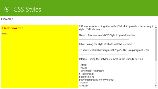 HTML Learning App