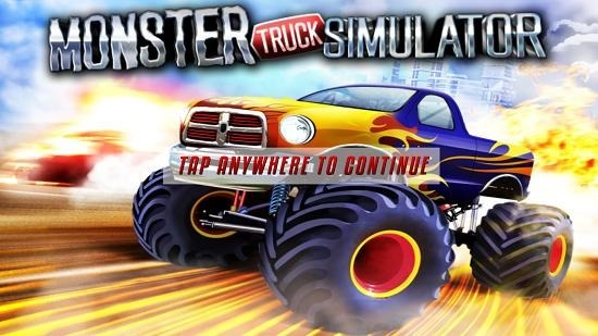 Monster Truck Simulator Main Screen