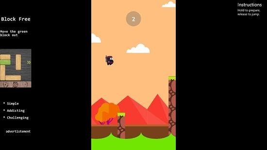 Spring Ninja Jump gameplay jumping