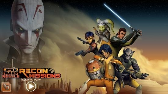 Star Wars Rebels Recon Missions main menu