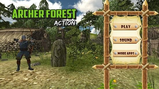 Archer Forest Action Main Screen