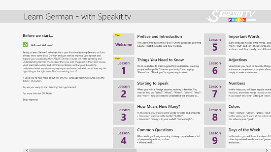 GERMAN - Speakit.tv interface
