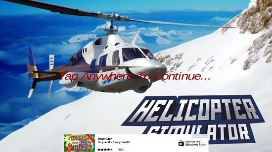 Helicopter Simulator 3D main screen
