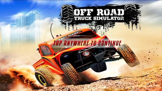 Off Road Truck Simulator main screen
