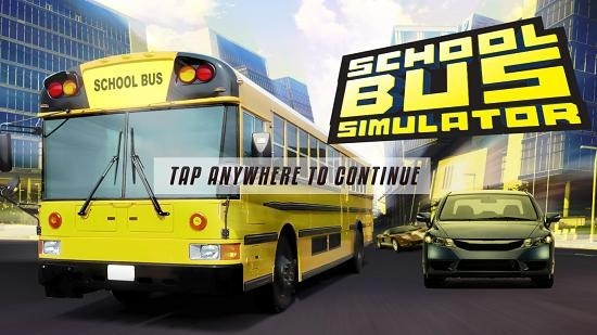 School Bus Simulator Main Screen