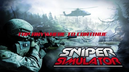Sniper Shooter Simulator Main Screen